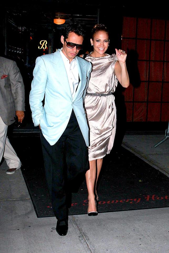 "Even though they are parents to twin babies, Marc Anthony and Jennifer Lopez always make time for date nights. Dario Alequin/<a href=""http://www.infdaily.com"" target=""new"">INFDaily.com</a> - September 15, 2008"