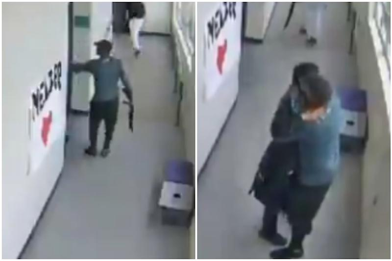 Powerful Video Shows 'Hero' High School Coach Hugging and Disarming Student with Gun
