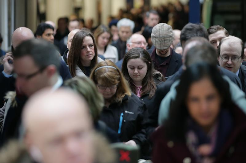 Commuters at Victoria station. Photo: DANIEL LEAL-OLIVAS/AFP/Getty Images
