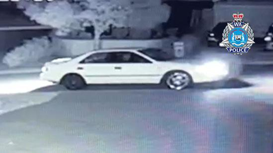 Police are searching for the driver of this Toyota Camry. Source: WA Police