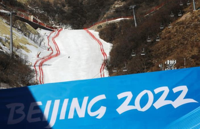 Organised media tour to the 2022 Winter Olympics venues in Beijing's Yanqing district