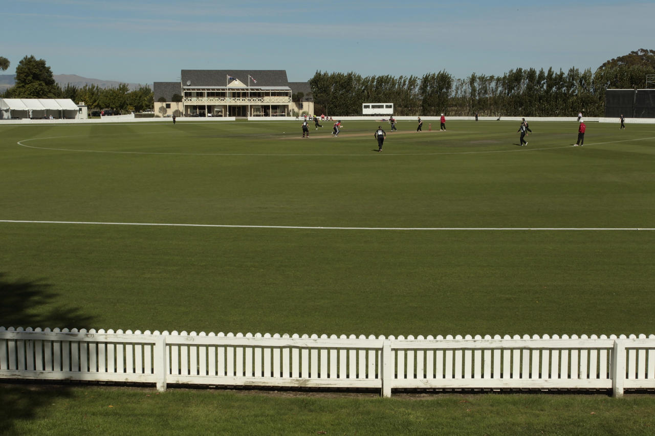 General view of Bert Sutcliffe Oval, Lincoln University, during the women's third ODI between New Zealand and England on March 5, 2012 in Christchurch, New Zealand.