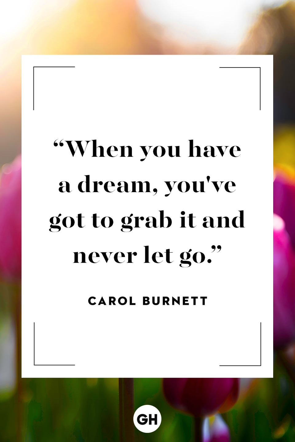 <p>When you have a dream, you've got to grab it and never let go. </p>