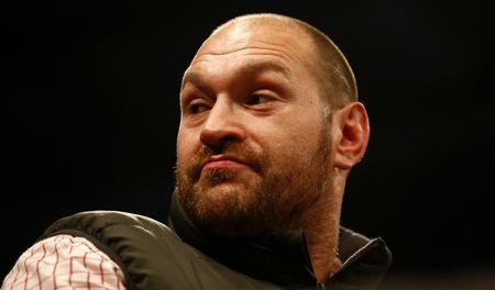 Tyson Fury before the fight