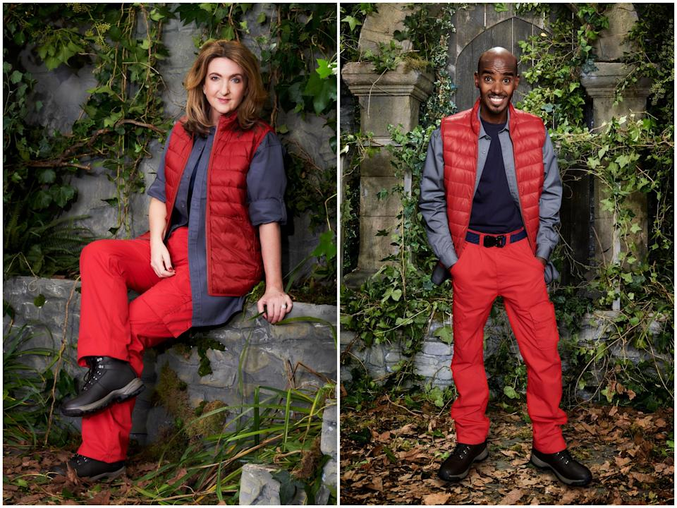 <p>Victoria Derbyshire and Mo Farah</p>ITV