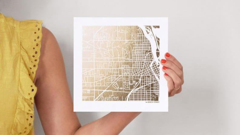 Best personalized grad gifts: Custom map