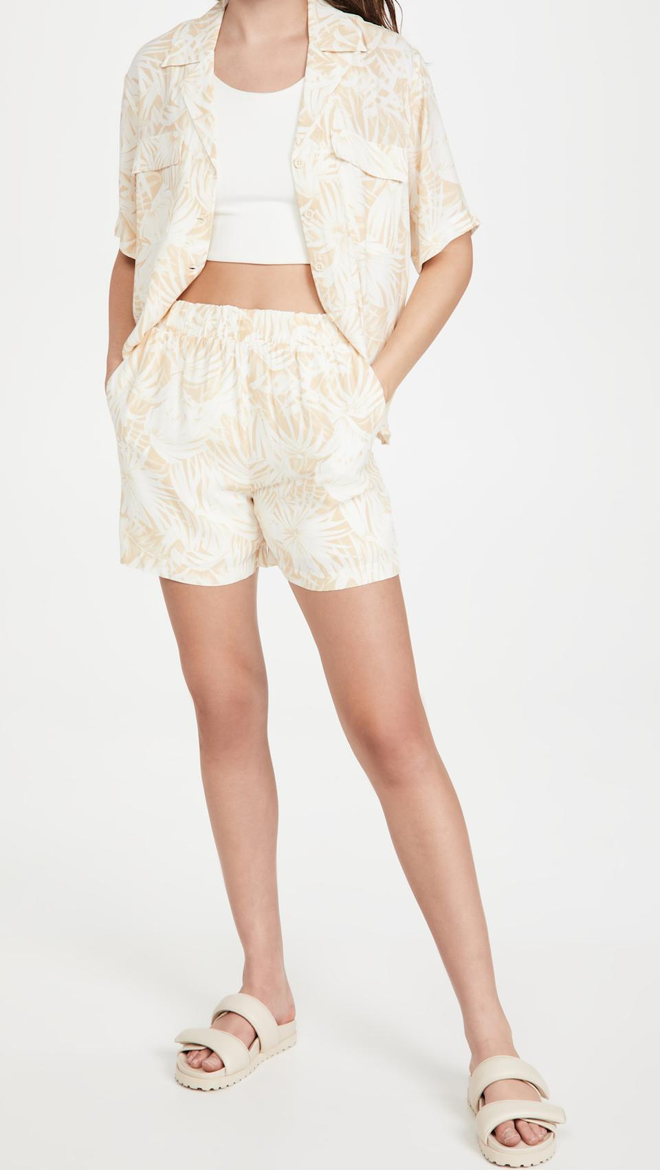 Anine Bing Austin Top and Candice Shorts. Image via Shopbop.