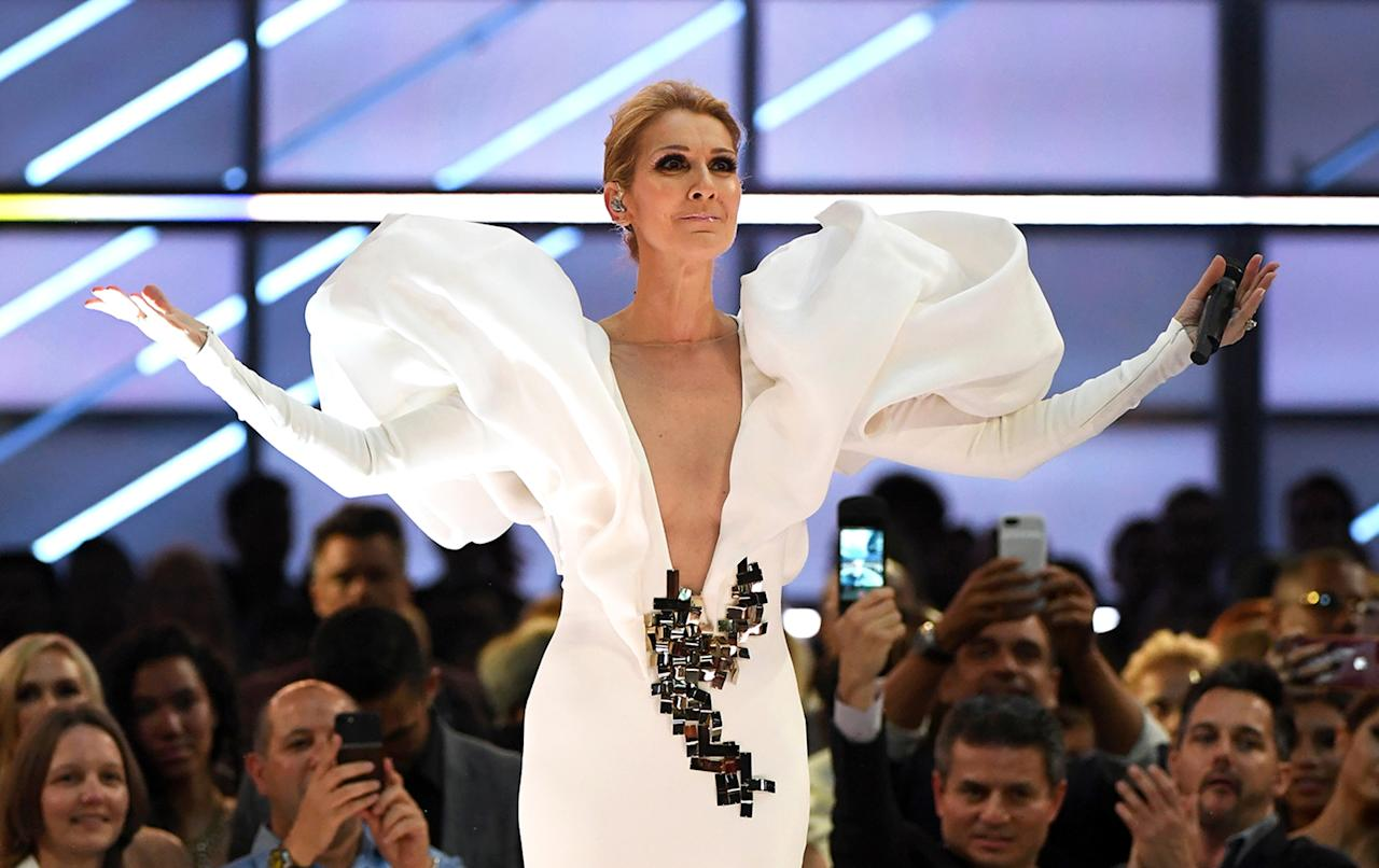 <p>Celine Dion performs onstage during the 2017 Billboard Music Awards at T-Mobile Arena on May 21, 2017 in Las Vegas, Nevada. (Photo by Ethan Miller/Getty Images) </p>
