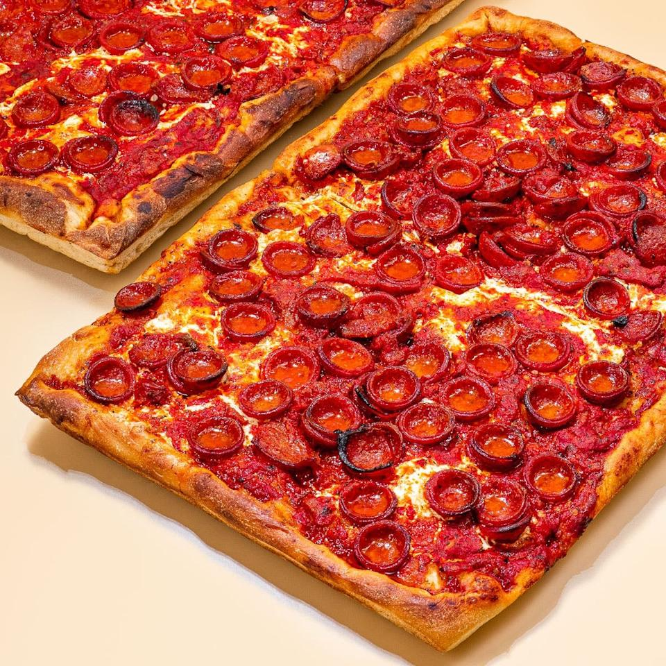 "<p>We've been dreaming of this <a href=""https://www.popsugar.com/buy/Prince-St-Pizza-Spicy-Spring-574368?p_name=Prince%20St.%20Pizza%20Spicy%20Spring&retailer=goldbelly.com&pid=574368&price=125&evar1=yum%3Aus&evar9=47477578&evar98=https%3A%2F%2Fwww.popsugar.com%2Ffood%2Fphoto-gallery%2F47477578%2Fimage%2F47477587%2FPrince-St-Pizza-Spicy-Spring&list1=shopping%2Cfood%2Cnew%20york%20city%2Cgoldbelly&prop13=mobile&pdata=1"" rel=""nofollow"" data-shoppable-link=""1"" target=""_blank"" class=""ga-track"" data-ga-category=""Related"" data-ga-label=""https://www.goldbelly.com/prince-street-pizza/spicy-spring-2-pack"" data-ga-action=""In-Line Links"">Prince St. Pizza Spicy Spring</a> ($125 for two). It's the perfect pepperoni pizza.</p>"