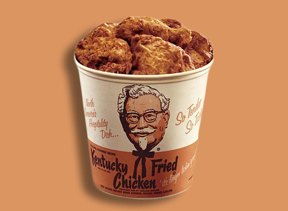 KFC original bucket fried chicken