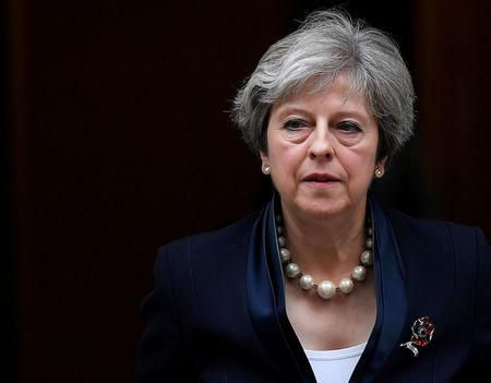 FILE PHOTO:Britain's Prime Minister Theresa May leaves 10 Downing Street in London