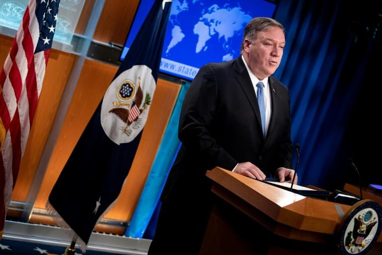 US Secretary of State Mike Pompeo announces new measures against Cuba's government on April 17, 2019