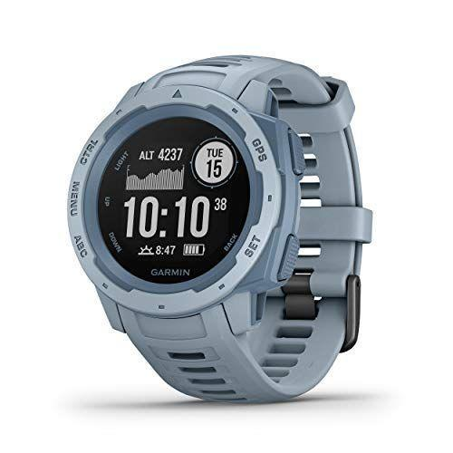 "<p><strong>Garmin</strong></p><p>amazon.com</p><p><strong>$199.98</strong></p><p><a href=""https://www.amazon.com/dp/B07PRPNFZ2?tag=syn-yahoo-20&ascsubtag=%5Bartid%7C10049.g.36266914%5Bsrc%7Cyahoo-us"" rel=""nofollow noopener"" target=""_blank"" data-ylk=""slk:Shop Now"" class=""link rapid-noclick-resp"">Shop Now</a></p><p>Three GPS systems in the Instinct allow for more precise tracking in challenging, rugged environments. Built to military standards, it can withstand harsh elements—its battery life can even last up to 14 days in smartwatch mode, or up to 16 hours in GPS mode.</p>"