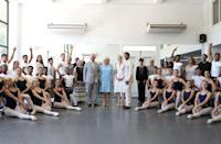 <p>Prince Charles and Camilla pose with ballet dancers during a visit to the Acosta Dance Company during their tour of Havana, Cuba. They are the first British royals to ever make an official visit to the country.</p>