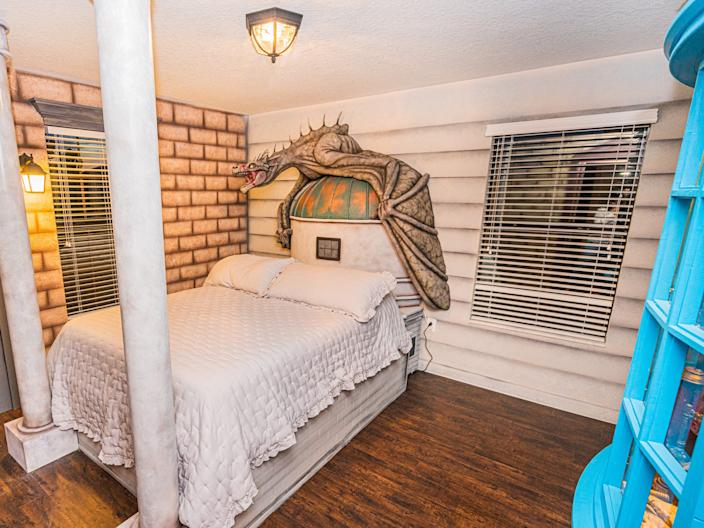 Guests can sleep just under the dragon.