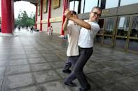 The memorial to former Taiwanese strongman Chiang Kai-shek attracts dansers of all sorts of styles - including tango