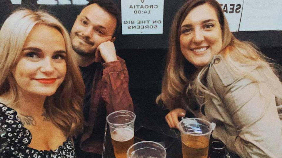 Kerrie with boyfriend Danny and friend Adele in Birkenhead in May 2021. PA REAL LIFE/ COLLECT