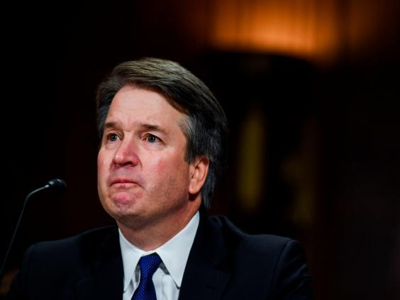 Brett Kavanaugh testifies before the Senate Judiciary Committee on Capitol Hill in Washington, DC, on 27 September, 2018. (AFP/Getty Images)