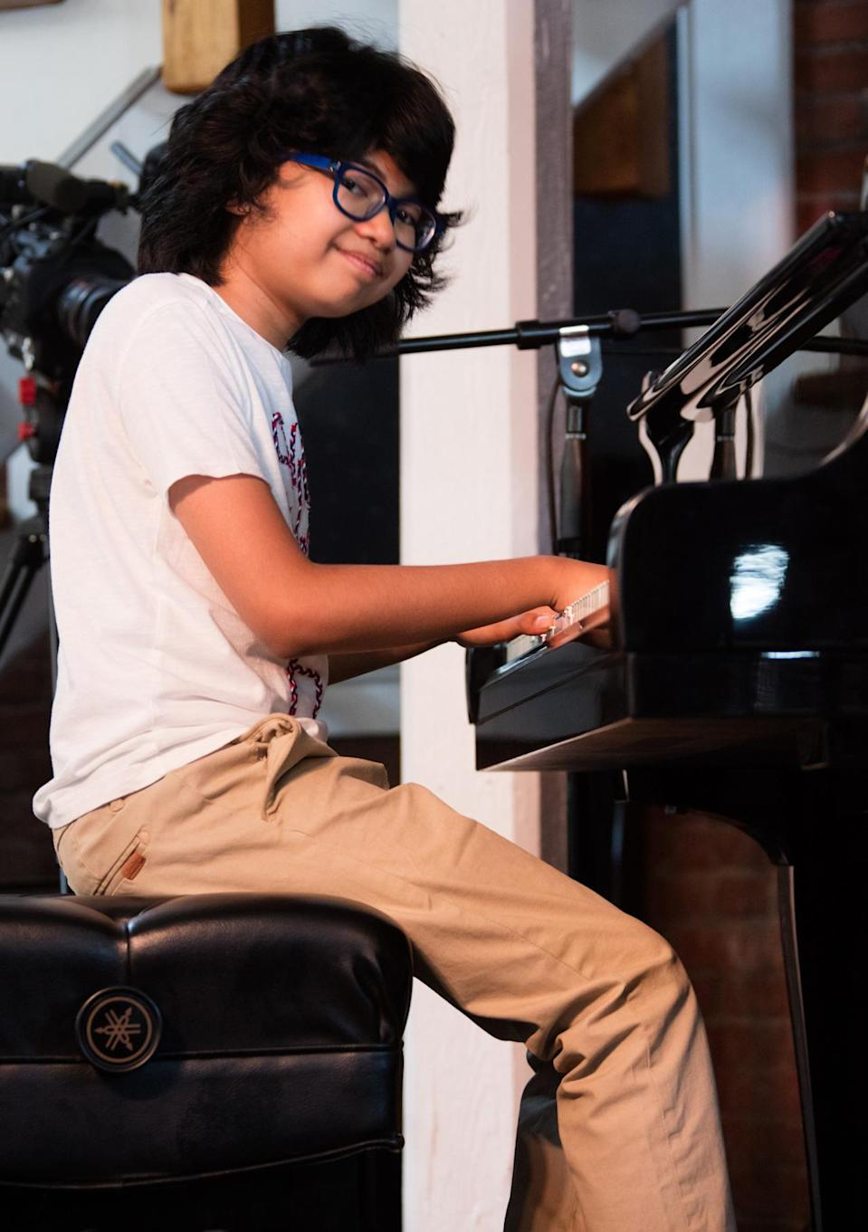 """Joey Alexander may become the youngest individual artist ever to win a Grammy. The piano prodigy is just 12 years old. Alexander has two chances to win. He's nominated for Best Jazz Instrumental Album for My Favorite Things and Best Improvised Jazz Solo for """"Giant Steps,"""" a track from the album. Odds of this happening: Good. Everybody loves a precocious kid. Note: The current record-holder as the youngest individual artist to win a Grammy is LeAnn Rimes, who was 14 ½ when she first won."""