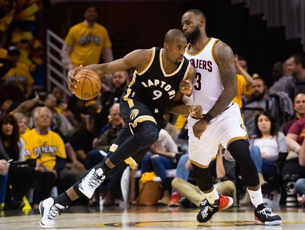 Serge Ibaka goes right back at LeBron James. (Getty Images)