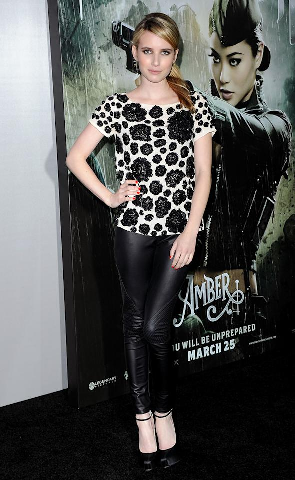 """<a href=""""http://movies.yahoo.com/movie/contributor/1804508466"""">Emma Roberts</a> at the Los Angeles premiere of <a href=""""http://movies.yahoo.com/movie/1810133258/info"""">Sucker Punch</a> on March 23, 2011."""