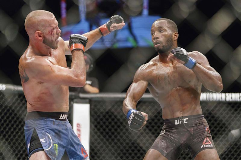 Before his win over Nelson, Edwards beat Donald Cerrone in June 2018 (AFP/Getty Images)