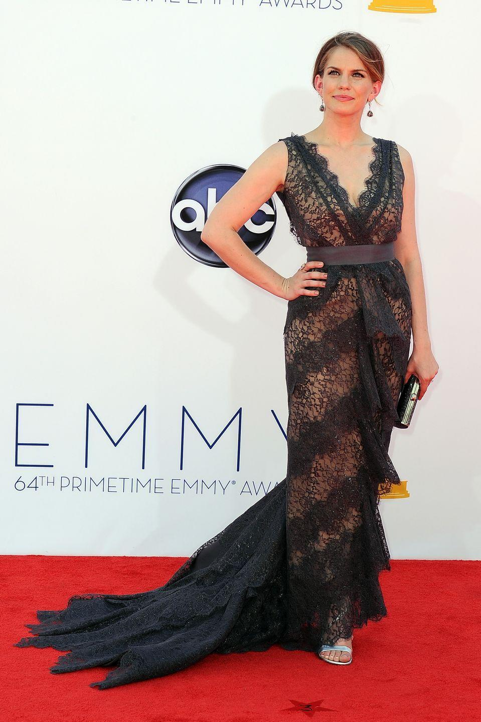 """<p>Chlumsky has been nominated four times for her hilarious role on <em>Veep</em><span class=""""redactor-invisible-space"""">, and she looked like a true winner on the Emmy carpet in 2012. </span></p>"""