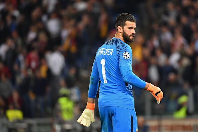Roma goalkeeper Alisson Becker has signed with Liverpool. (Getty)