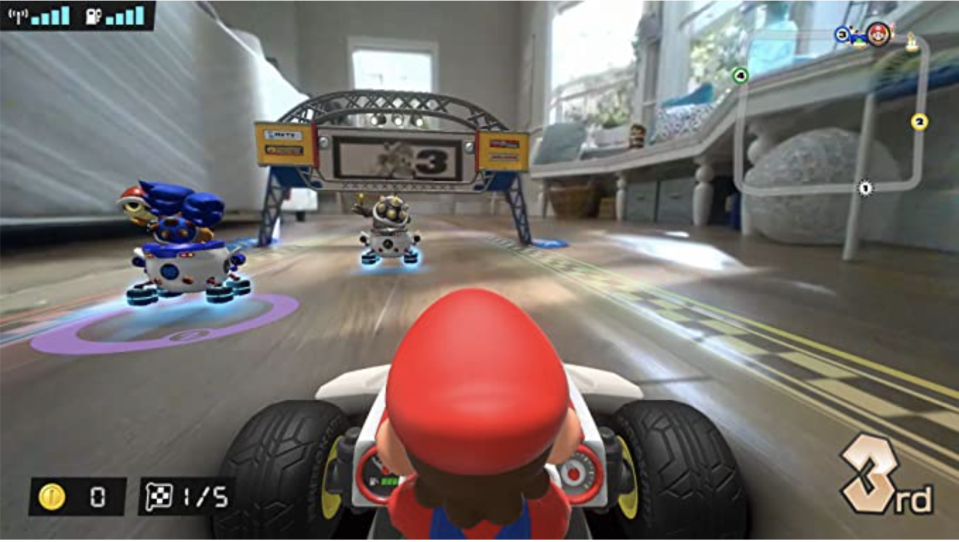 Mario Kart Live: Home Circuit has introduced a mixed reality (MR) aspect to its gameplay.