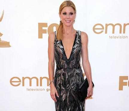 """Photo by: Frazer Harrison /Getty Images Entertainment<br />Julie Bowen-<br />Those Emmy statuettes are known for being heavy, but Modern Family's Julie Bowen had no problem handling hers as she accepted the first win of the night for Outstanding Supporting Actress in a Comedy Series. The star has often complained about her boyish frame, but her low-cut Oscar de la Renta complemented her fit figure, drawing all eyes to her buff biceps. <br> <br> <b>How Julie Stays Fit:</b> """"I used to think yoga was for losers who were scared of a good workout,"""" she told SELF. """"Now I love a good yoga class. In fact, all of the muscle tone I have is from yoga. I've been working out for so long, it's become my way of life."""" <br> <br> <b><a rel=""""nofollow"""" href=""""http://www.self.com/fitness/workouts/2011/07/amazing-arms-slideshow?mbid=synd_yshine"""">Try SELF's moves for amazing arms.</a></b> <br> <br> <b>More from Self: <br> <br> • <a rel=""""nofollow"""" href=""""%20http://www.self.com/healthystars/2011/05/gwyneth-paltrows-arm-and-ab-moves-slideshow?mbid=synd_yshine"""">Gwyneth Paltrow's Arm and Ab Moves</a> <br> • <a rel=""""nofollow"""" href=""""%20http://www.self.com/fitness/workouts/2010/06/yoga-for-abs-workout-slideshow?mbid=synd_yshine"""">Yoga Moves for Flat Abs</a> <br> • <a rel=""""nofollow"""" href=""""%20http://www.self.com/fooddiet/2010/03/20-superfoods-slideshow?mbid=synd_yshine#slide=1"""">20 Superfoods for Weight Loss</a> <br> •</b>"""