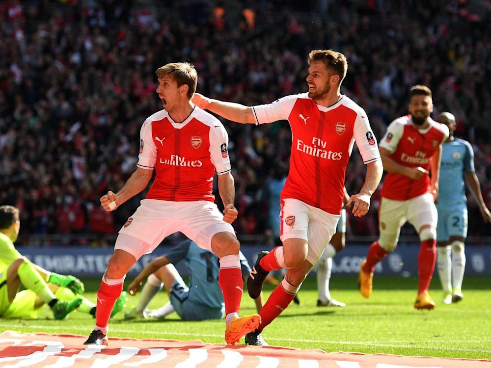 Monreal scored his first goal since the FA Cup win over Manchester United in 2015 (Getty)