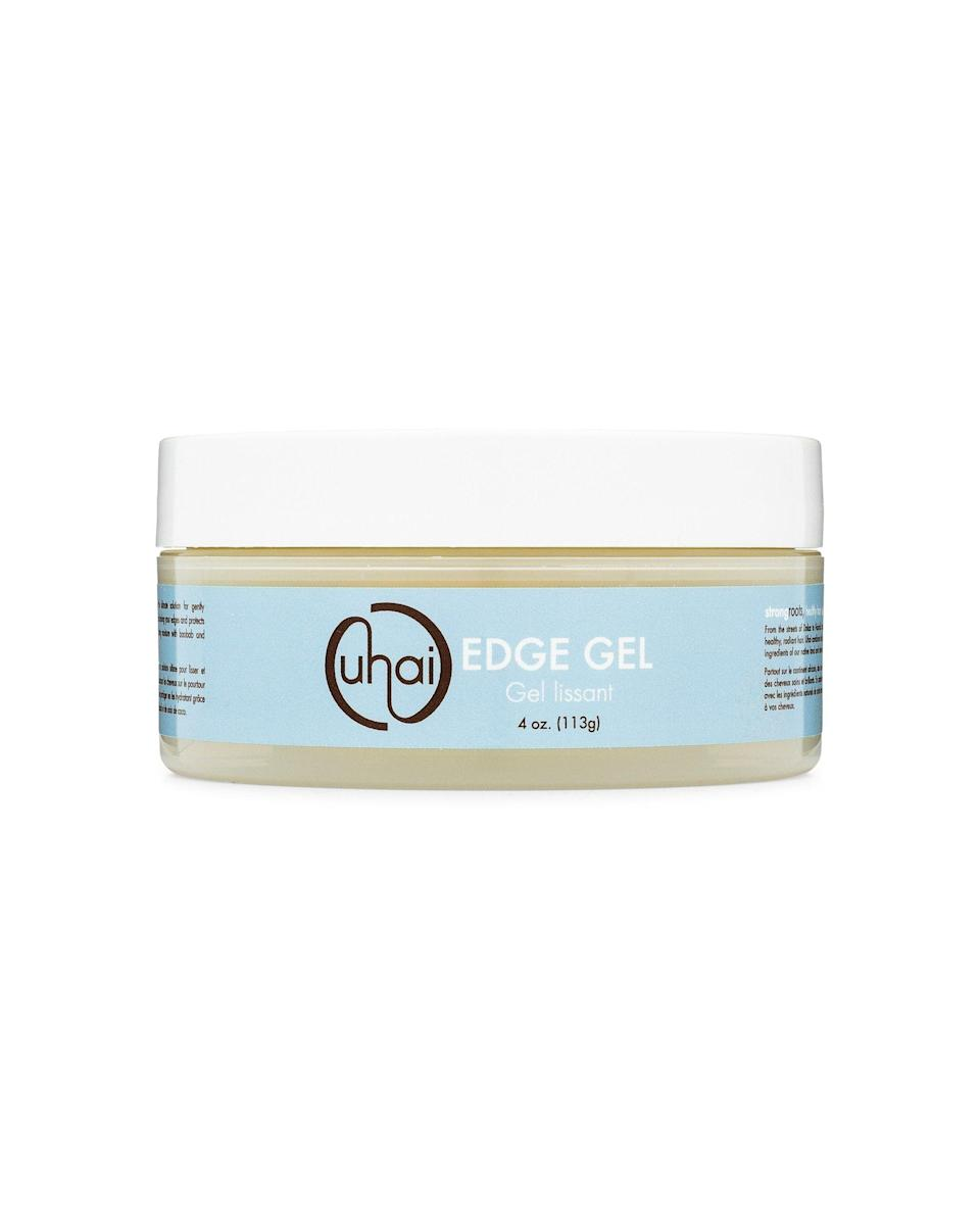 """<p>uhaihair.com</p><p><strong>$9.99</strong></p><p><a href=""""https://uhaihair.com/products/edge-gel"""" rel=""""nofollow noopener"""" target=""""_blank"""" data-ylk=""""slk:Shop Now"""" class=""""link rapid-noclick-resp"""">Shop Now</a></p><p>If you're tired of <a href=""""https://www.cosmopolitan.com/style-beauty/beauty/g19562649/best-edge-control-hair-products/"""" rel=""""nofollow noopener"""" target=""""_blank"""" data-ylk=""""slk:edge control gels"""" class=""""link rapid-noclick-resp"""">edge control gels</a> that leave your baby hairs dried up and flaky, it's time to make the switch to this Black-owned hair product. With baobab and castor oil swirling around in the formula, <strong>the gel prevents any potential breakage, </strong>adds a dose of hydration to your baby hairs, and keeps them slicked down all day long.</p>"""