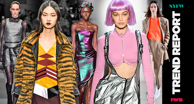 The top NYFW fall 2018 trends. (Photo: Getty/Art: Quinn Lemmers)