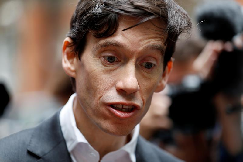 PM hopeful Rory Stewart speaks to the media as he emerges from TV studios in Westminster, London, Britain, June 19, 2019. REUTERS/Peter Nicholls