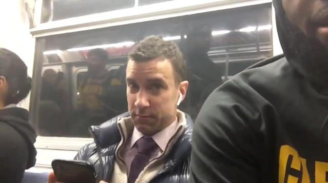 LeBron James' commuting buddy is not thrilled to be on camera. (Screen shot via Uninterrupted)