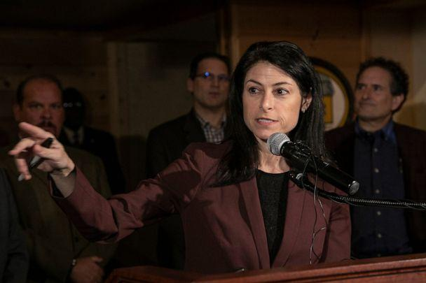 PHOTO: Michigan Attorney General Dana Nessel holds a press conference in Ferndale, Mich., March, 16, 2020. (Detroit Free Press via USA Today Network, FILE)
