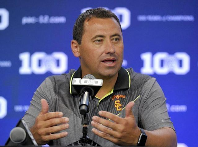 Falcons offensive coordinator Steve Sarkisian discusses his battle with alcohol. (AP)