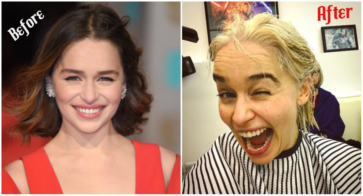 """<p>Emilia Clarke has 'done did it.'<br />The actress has rocked a long blonde wig for her role as Daenerys Targaryen on HBO's """"Game of Thrones"""" for the past few years, but the beauty recently decided to give the 'Khaleesi' 'do a try and dye her naturally dark hair blonde!<br />""""AAAAHHHHHHH SHHHHIIIII******"""" She captioned in an Instagram post on Tuesday that quickly went viral. """"I done did it. Mother of dragons meet Emilia. Emilia meet mother of dragons. If you squint just so you might never know."""" She credited hairstylists Kev Alexander and Candice Banks — """"the genius creators of the Khaleesi wig and all the hair on Game of Thrones– """"for at long last making this magical moment a reality.""""<br />Stunning! Are you a fan of the new colour? <em>(Photo: Getty/Instagram)</em> </p>"""