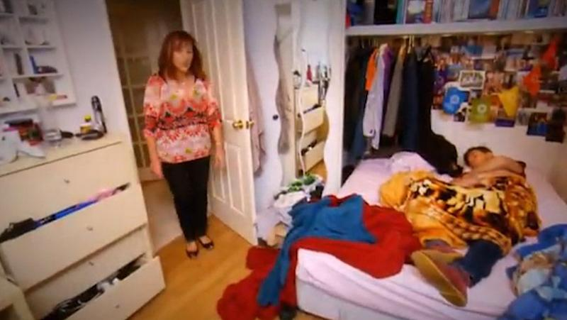 That moment your mum walks into your messy bedroom. Source: Seven Network