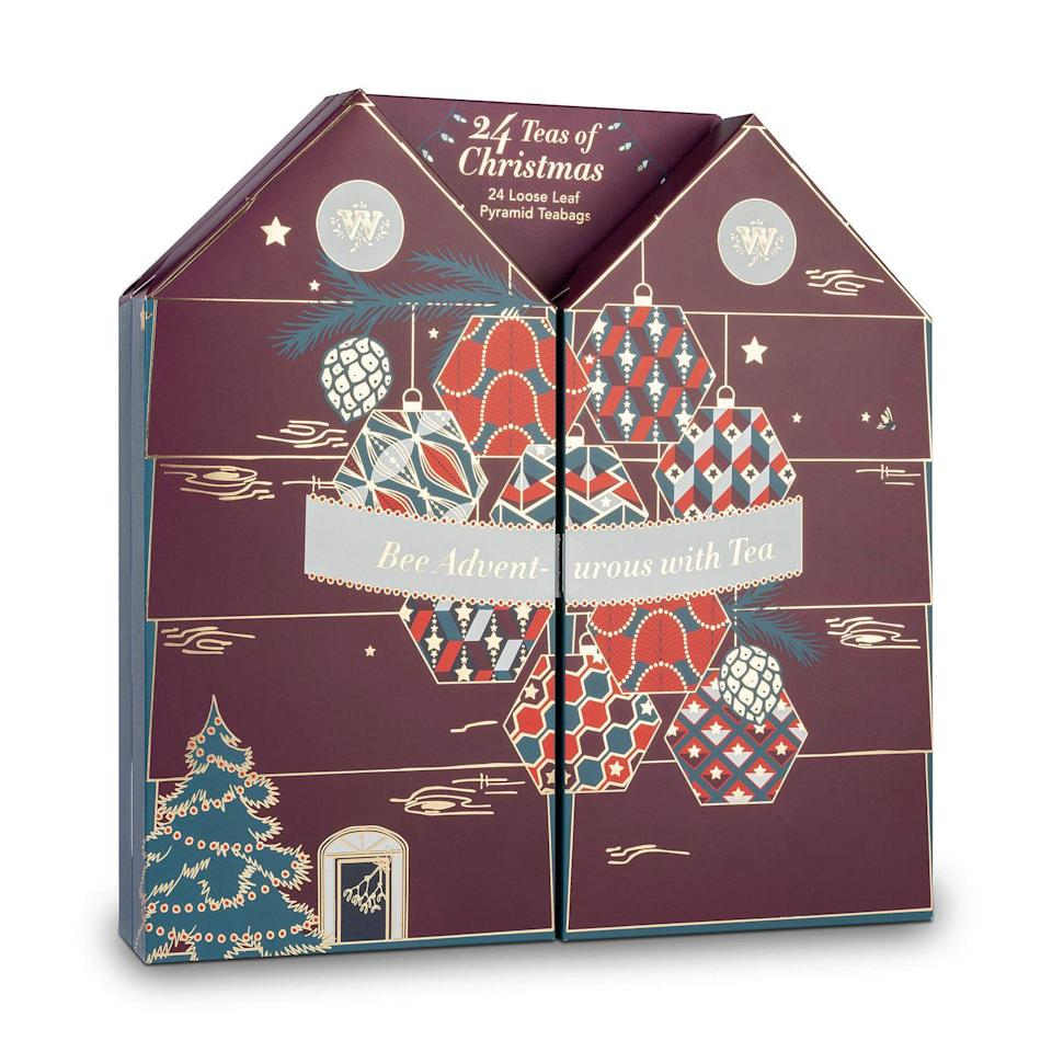 """<p><a class=""""link rapid-noclick-resp"""" href=""""https://go.redirectingat.com?id=127X1599956&url=https%3A%2F%2Fwww.whittard.co.uk%2Fgifts%2Fthe-tea-lovers-advent-calendar-343533.html&sref=https%3A%2F%2Fwww.housebeautiful.com%2Fuk%2Flifestyle%2Fshopping%2Fg150%2Falternative-advent-calendar%2F"""" rel=""""nofollow noopener"""" target=""""_blank"""" data-ylk=""""slk:BUY NOW"""">BUY NOW</a> £20 via Whittard</p><p>Enjoy the authentic taste of loose tea in a convenient pyramid teabag. Behind each door, there's a different blend to try – Whittard has hand-picked 24 of its top teas, individually wrapped in delightful envelopes. </p>"""
