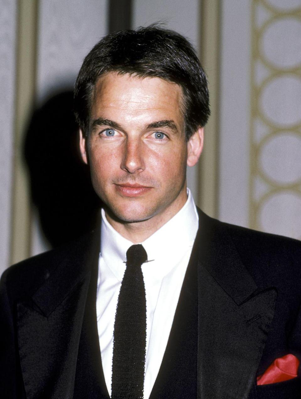 "<p>Before he starred on <em>NCIS,</em> Harmon was an '80s heartthrob with dark brown hair. The actor was even voted as <a href=""https://people.com/celebrity/mark-harmon-peoples-sexiest-man-alive-1986/"" rel=""nofollow noopener"" target=""_blank"" data-ylk=""slk:People's Sexiest Man Alive in 1986"" class=""link rapid-noclick-resp""><em>People</em>'s Sexiest Man Alive in 1986</a>. </p>"
