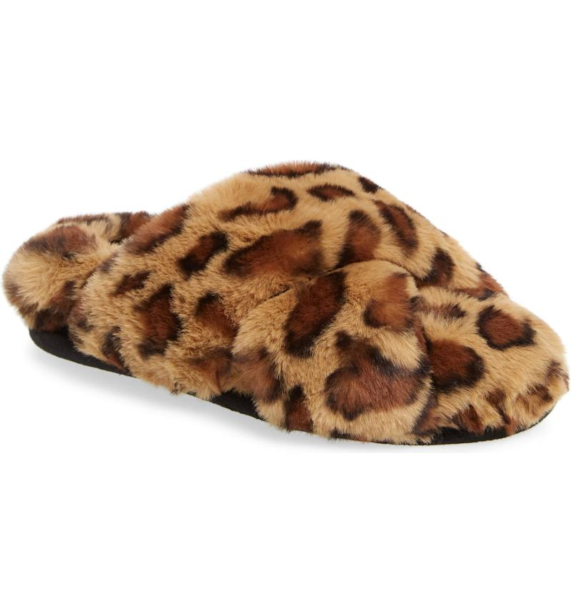BP Sophie Criss Cross Plush Bedroom Slipper