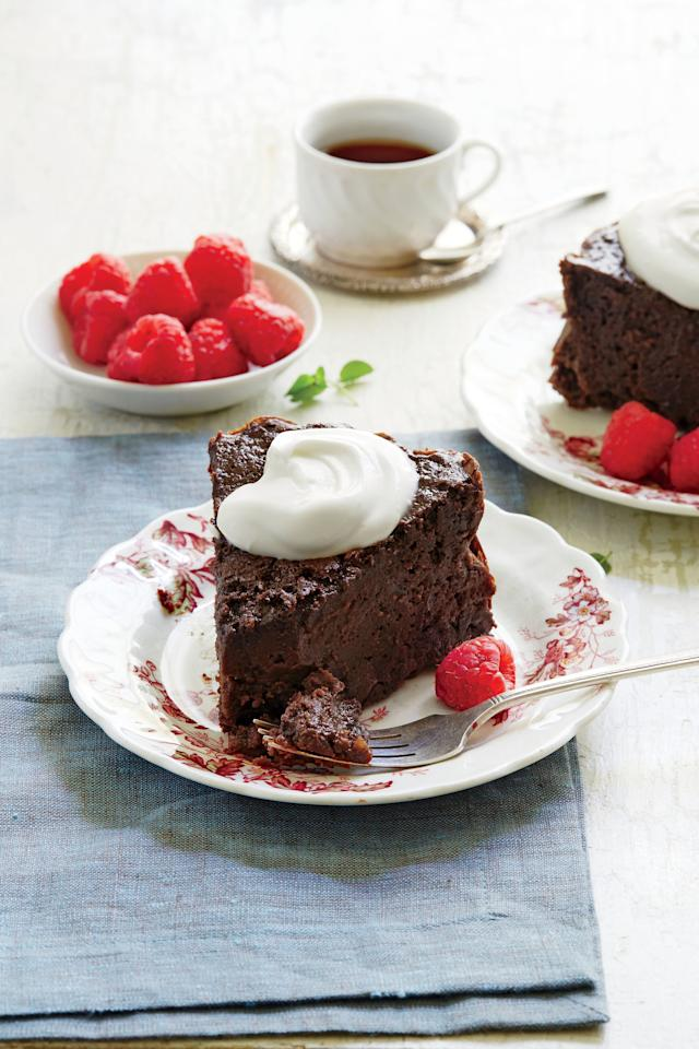 """<p><strong>Recipe: <a href=""""http://www.southernliving.com/recipes/chocolate-cinnamon-latte-cake-recipe"""" target=""""_blank"""">Chocolate-Cinnamon Latte Cake</a></strong></p>"""