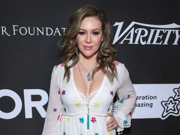 Alyssa Milano at a benefit gala on 15 January 2020 in Los Angeles, California (Rich Fury/Getty Images)