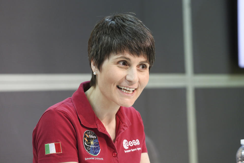 Samantha Cristoforetti, Italian European Space Agency astronaut, guest during the XXXII Turin International Book Fair at at Lingotto Fiere on May 09, 2019 in Turin, Italy.  (Photo by Massimiliano Ferraro/NurPhoto via Getty Images)