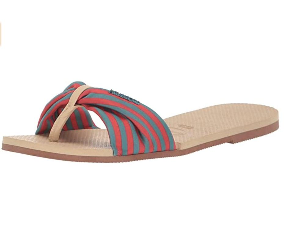 <p>Trade in your rubber flip flops for these more elevated <span>Havaianas St. Tropez Sandals</span> ($37 - $40).</p>