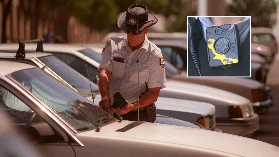 Parking inspectors across the country started wearing the body mounted cameras following a rise in verbal and physical attacks. Source: AAP