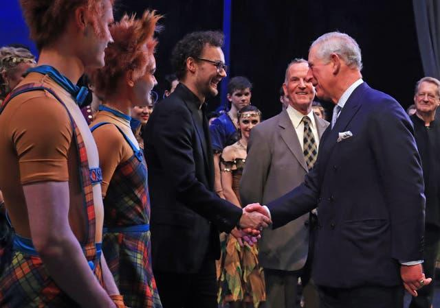 The Prince of Wales visits the Royal Opera House
