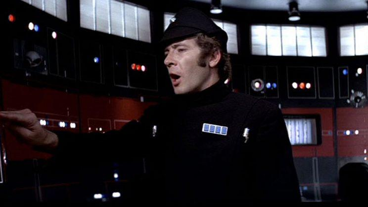 Peter Sumner as Lt. Pol Treidum, who felt the wrath of Chewbacca in 1977 classic (Photo courtesy of Lucasfilm)