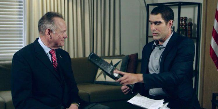Cohen with Roy Moore on Who Is America? (Credit: Showtime)